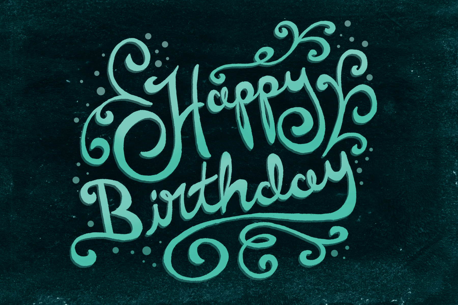 Happy Birthday Typography Design Happy birthday lettering