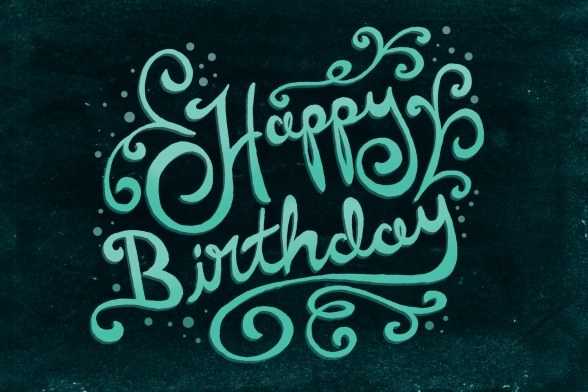Image result for happy birthday hand lettering